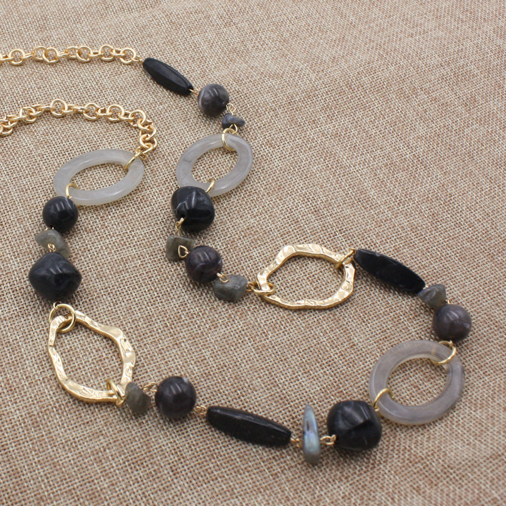 Jewelry Sticks and Stones Necklace