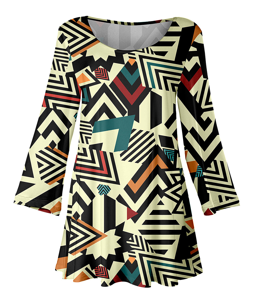$10.00, ZigZag Top 3/4 Sleeve