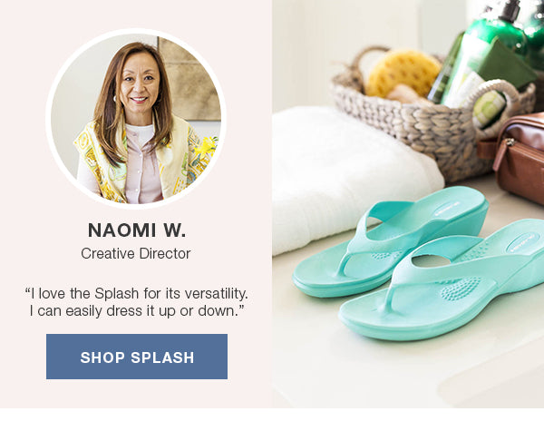 Naomi Okabashi Creative Director Slash flip flop sandals