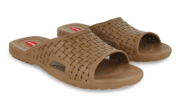Okabashi Torino Men's Sandal Slide, Brown