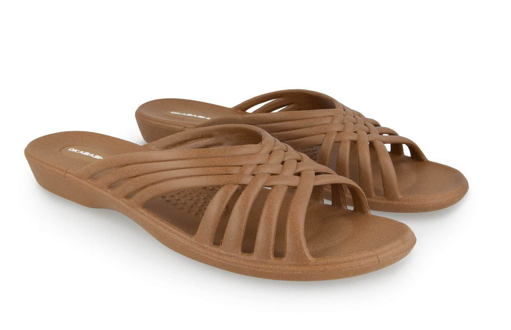 Venice womens brown sandals Okabashi shoes