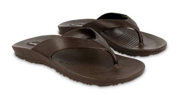 Okabashi Surf Men's Flip Flop, Brown