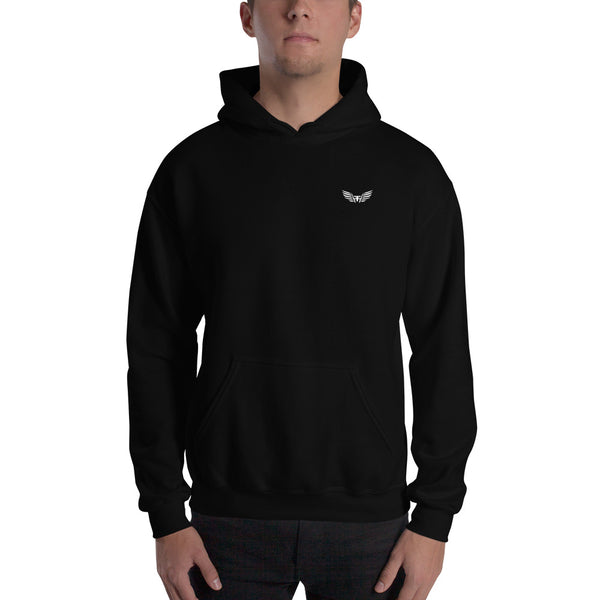 Embroidered Flaunt&Flair Hoodie - Black