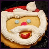 Buttercream Santa Cookies