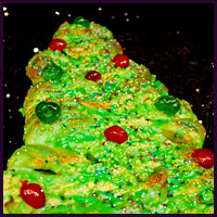 Christmas Tree Coffee Cake