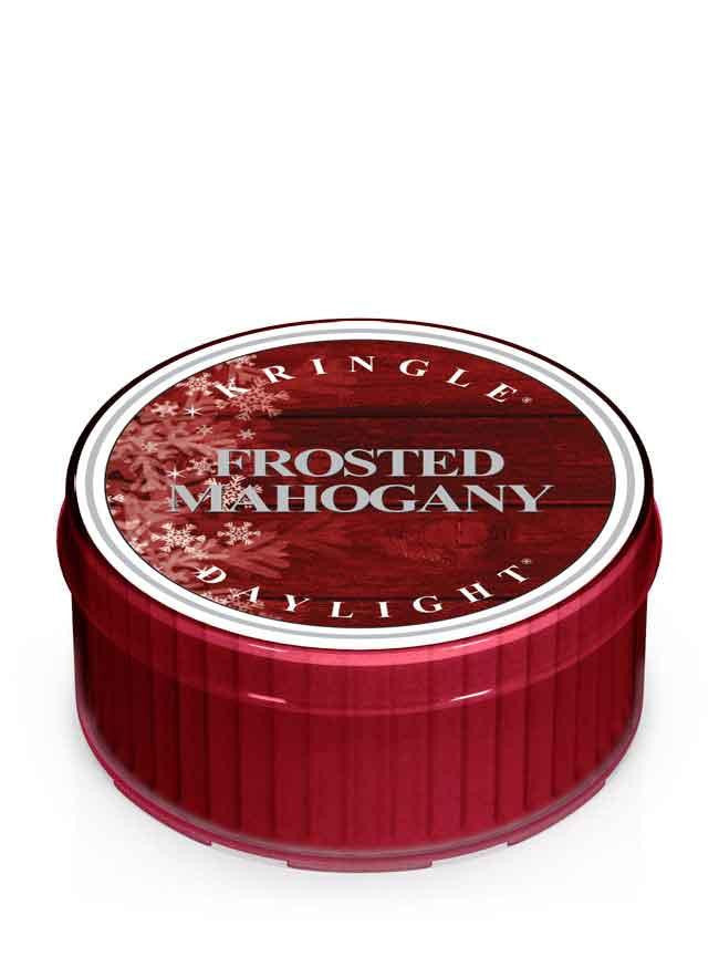 Kringle Daylight Frosted Mahogany Candle