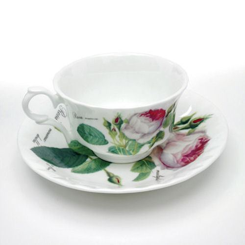 Roy Kirkham Redoute Rose Low Teacup Saucer (saucer only)