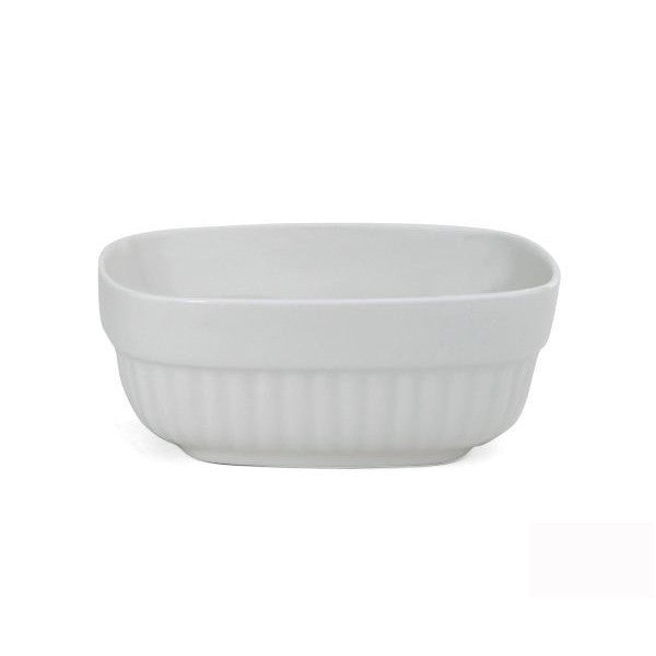 Finland Arabia Runo Square White Serving Dish 0.50L