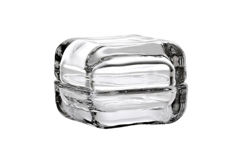 Iittala Vitriini Clear and Cork Box 6cm by 6cm