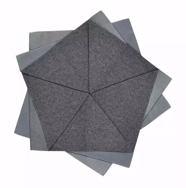Iittala Issey Miyake X Collection Dark Grey Table Flower Placemat 27cm