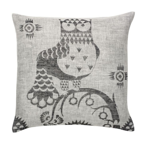 Iittala Taika Black Grey Linen Cushion Cover 50cm By 50cm