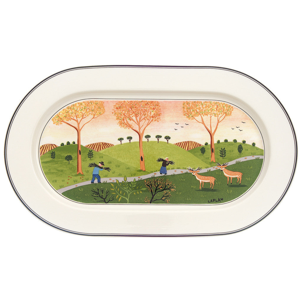 Villeroy and Boch Design Naif Oval Platter 34cm
