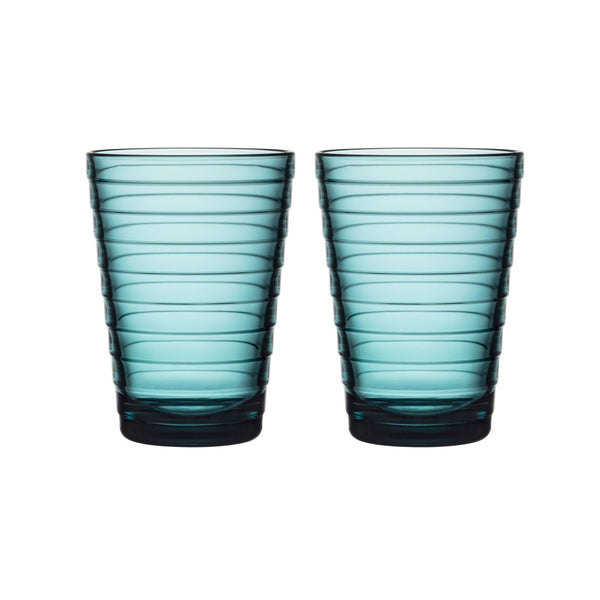 Iittala Aino Aalto Sea Blue Tumbler 33cl (Set of 2)