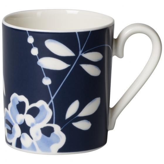 Villeroy and Boch Old Lu by embourg Brindille Blue Coffee Mug