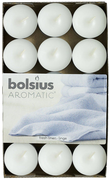 Bolsius Aromatic Fresh Linen Tealights (Set of 30)