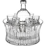 Waterford Crystal Lismore Diamond Vodka Set in Chill Bowl