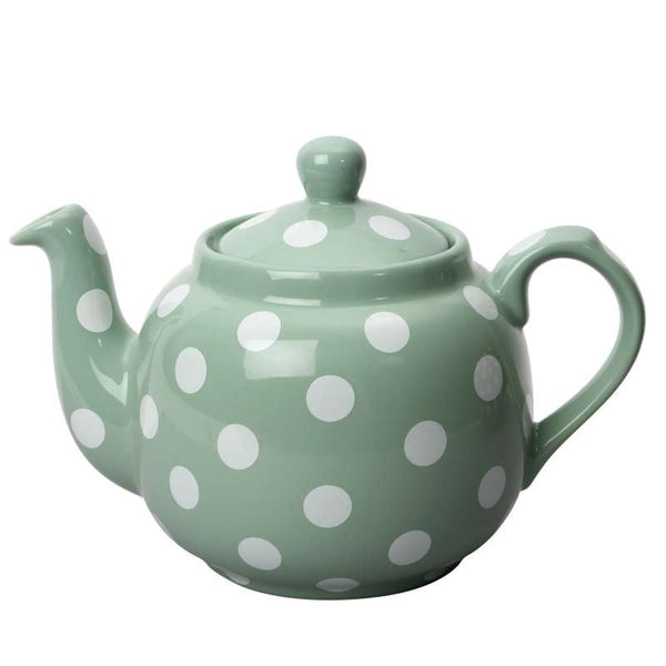 London Pottery Farmhouse Filter Green and White Teapot 1.20L