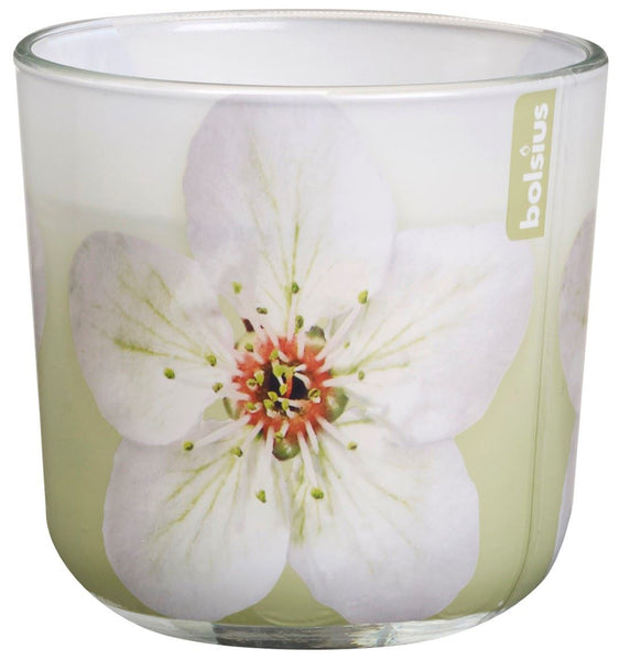 Bolsius Seasonal Green Blossom Glassware Candle
