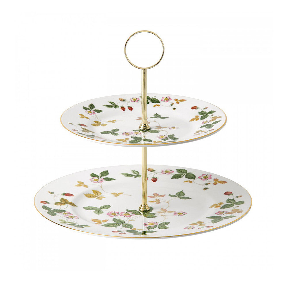 Wedgwood Wild Strawberry 2 Tier Cake Stand