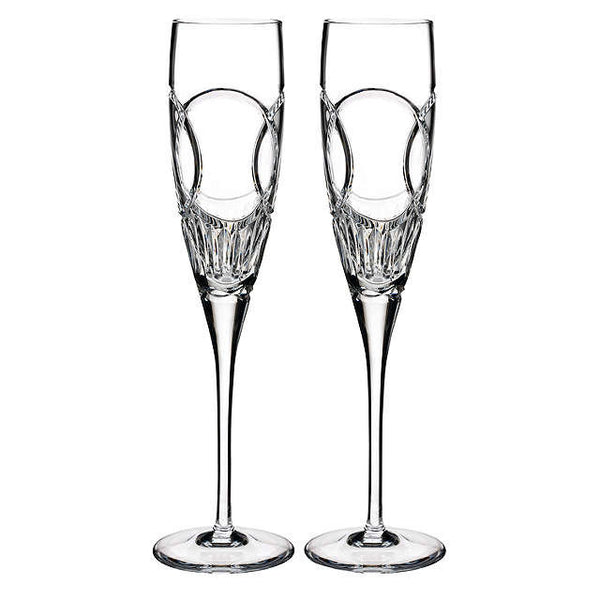 Waterford Crystal Love Flutes Wedding Vows Champagne Flute (Pair)
