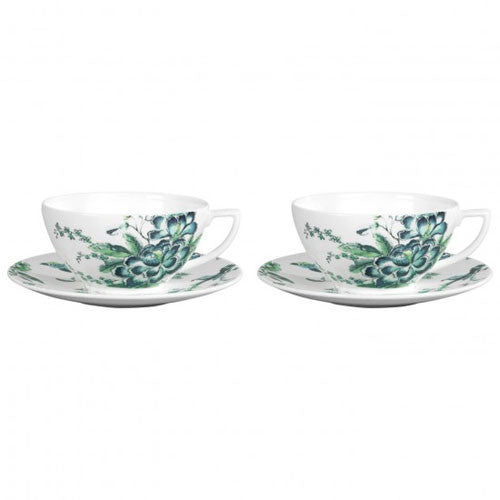 Wedgwood Jasper Conran Chinoiserie White Teacup and Saucer (Pair)