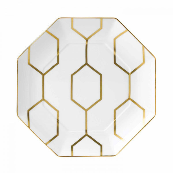 Wedgwood Arris White Octagonal Serving Plate 23cm