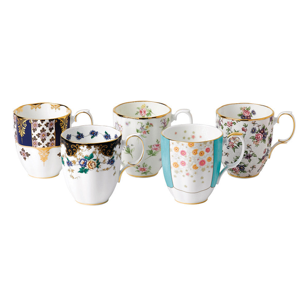 Royal Albert 1900 to 1940 Mug 0.40L (Set of 5)