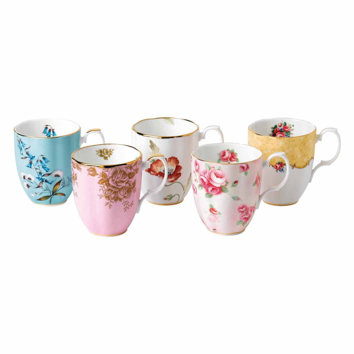 Royal Albert 1450 to 1990 Mug 0.40L (Set of 5)