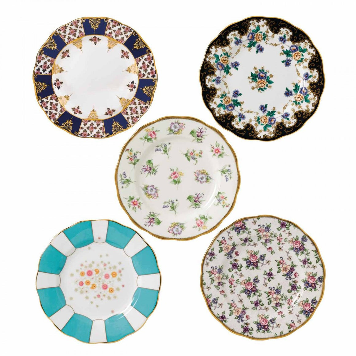 Royal Albert 1900 to 1940 Salad Plate 20cm (Set of 5)