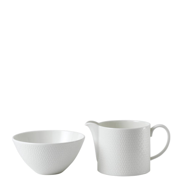 Wedgwood Gio Creamer and Sugar Set