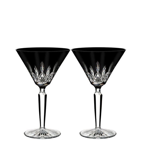 Waterford Crystal Lismore Black Martini Glass (Pair)