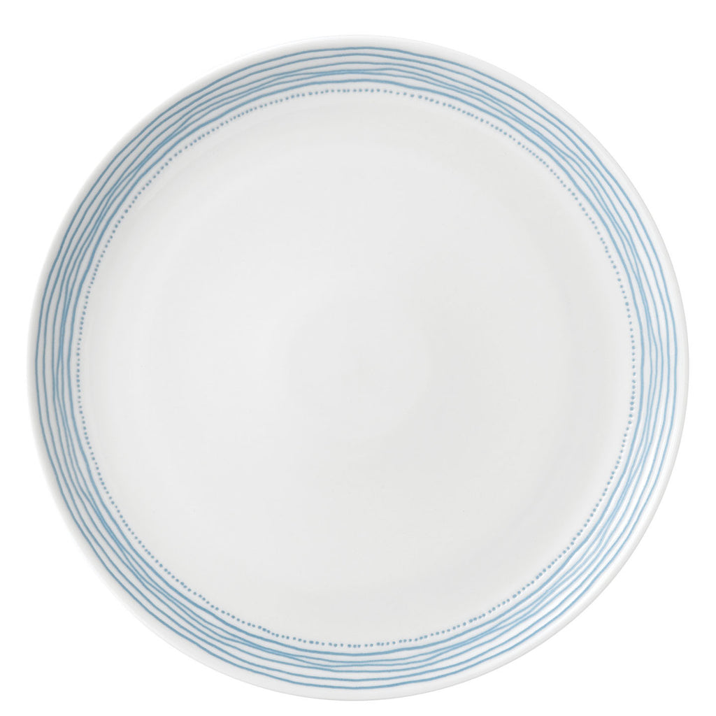 Royal Doulton Ellen Degeneres Polar Blue Dots Dinner Plate 28cm