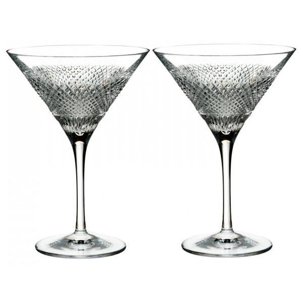 Waterford Crystal Diamond Line Martini (Pair)
