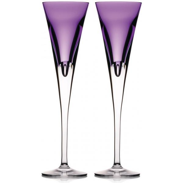 Waterford Crystal W Collection Eclipse Heather Flute (Pair)