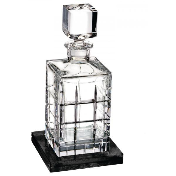 Waterford Cluin Short Stories Square Decanter with Marble Coaster