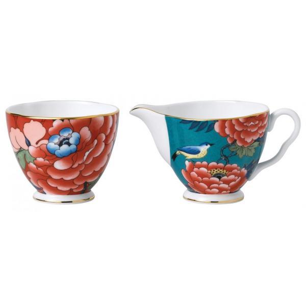 Wedgwood Paeonia Sugar and Creamer