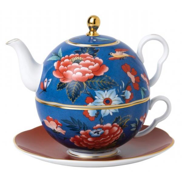 Wedgwood Paeonia Blue Teapot For One