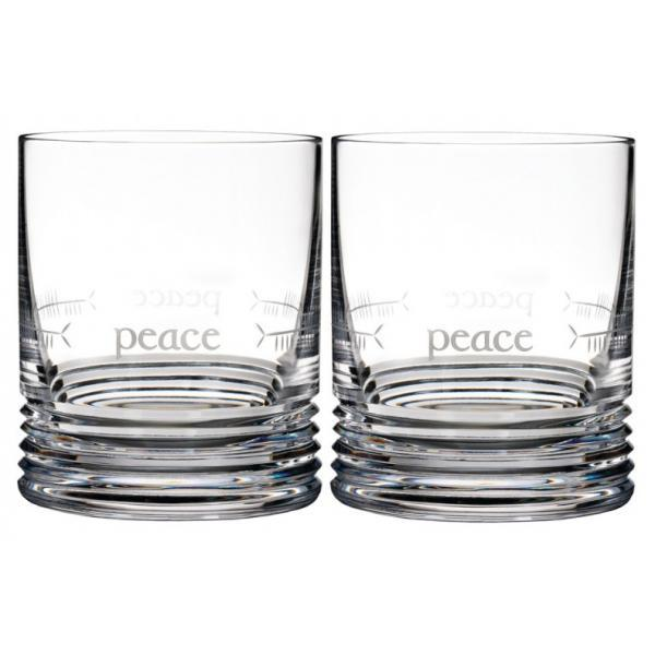 Waterford Ogham Short Stories Peace Old Fashioned Tumblers (Pair)