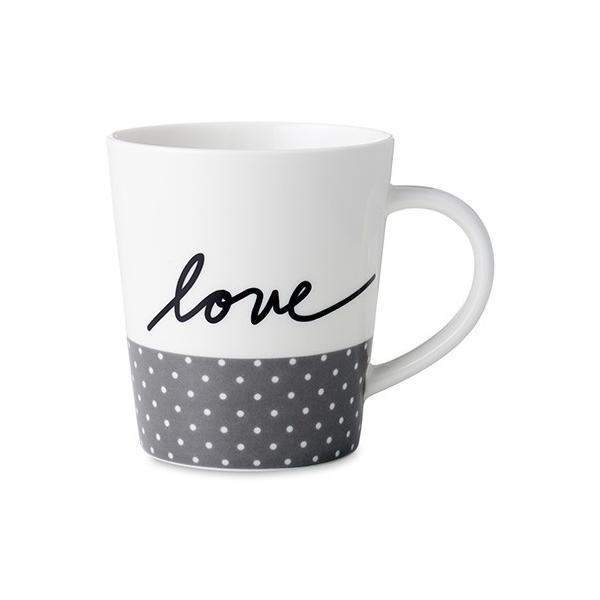 Royal Doulton Ellen Degeneres Love Grey Dots Mug