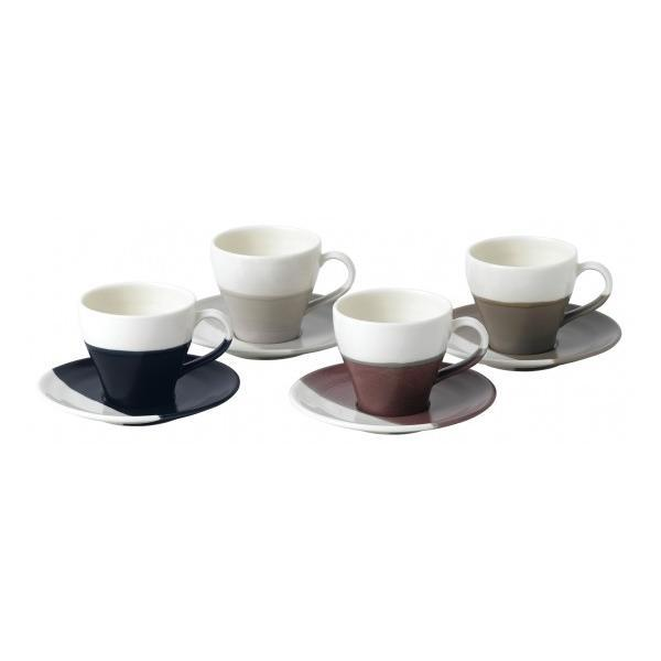 Royal Doulton Coffee Studio Espresso Cup and Saucers (Set Of 4)