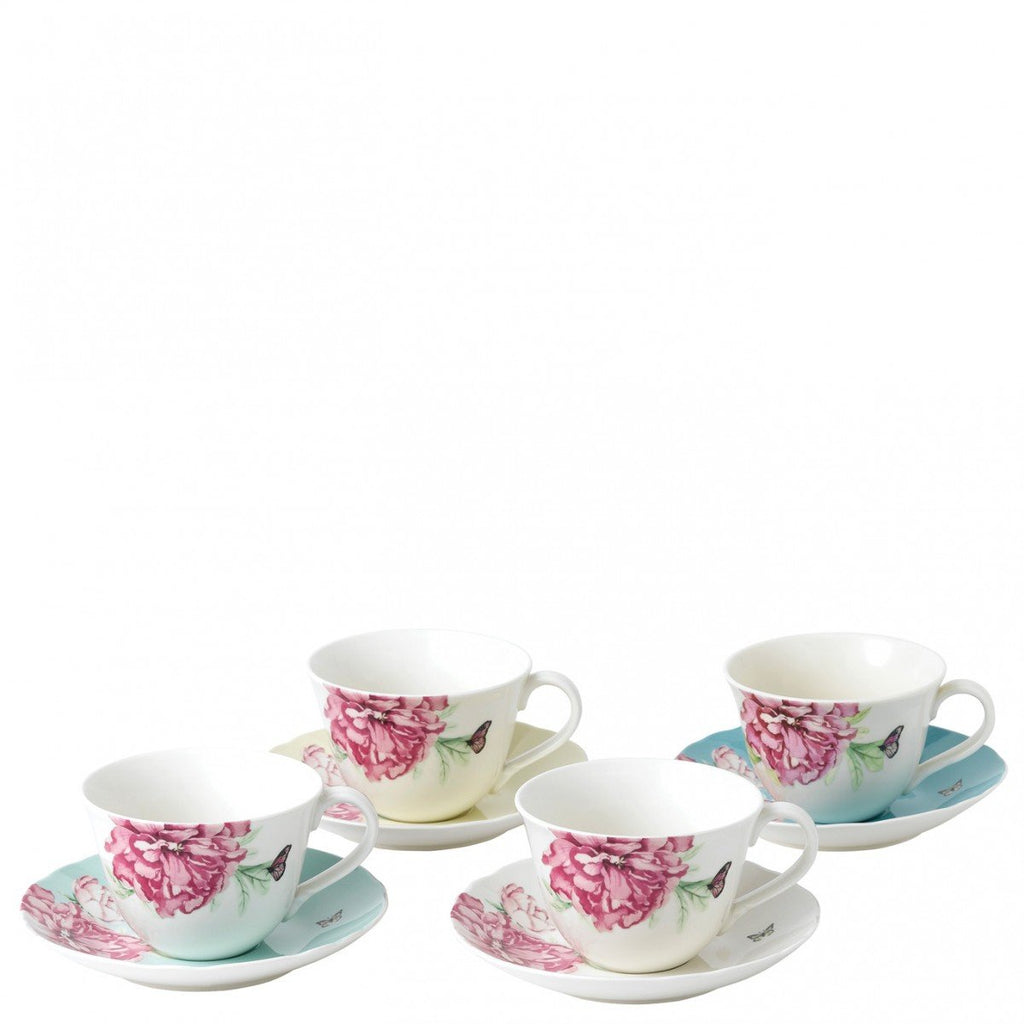 Royal Albert Miranda Kerr Everyday Friendship Mixed Colours Teacup and Saucer (Set of 4)