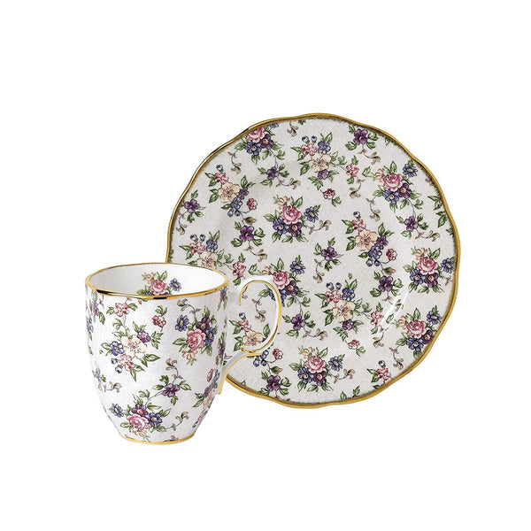 Royal Albert 100 Years Of Royal Albert English Chintz 1940 Mug And Plate 20Cm