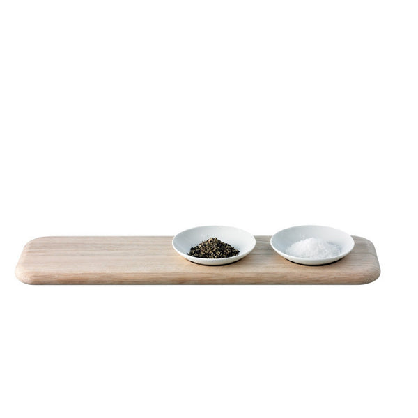 LSA Dine White Condiment Set 47cm by 13cm