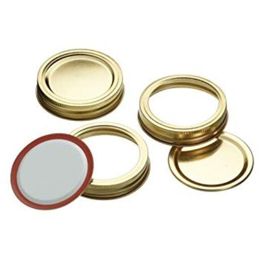 Home Made Deluxe Glass Preserving Jar Lids for 0.50L and 1L Jars (Box of 12)