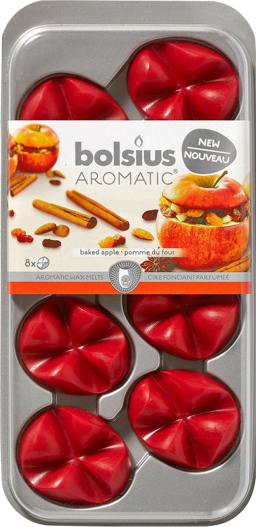 Bolsius Aromatic Melts Baked Apple Wax Melts (Set of 8)