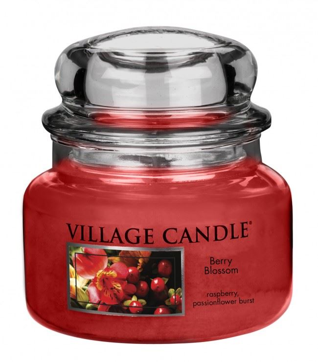 Village Candles Berry Blossom Small Candle Jar