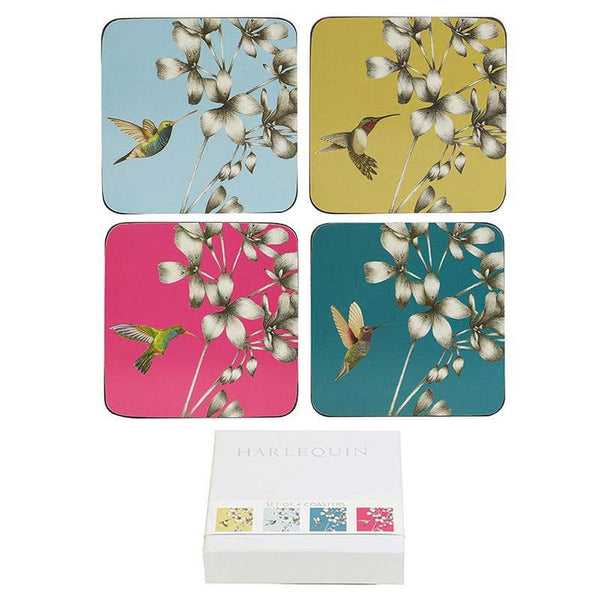 Churchill China Amazila Hummingbird Coaster 10.5 by 10.5 cm (Set of 4)