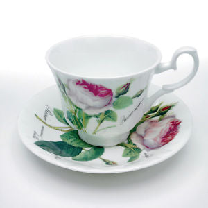 Roy Kirkham Redoute Rose Teacup and Saucer