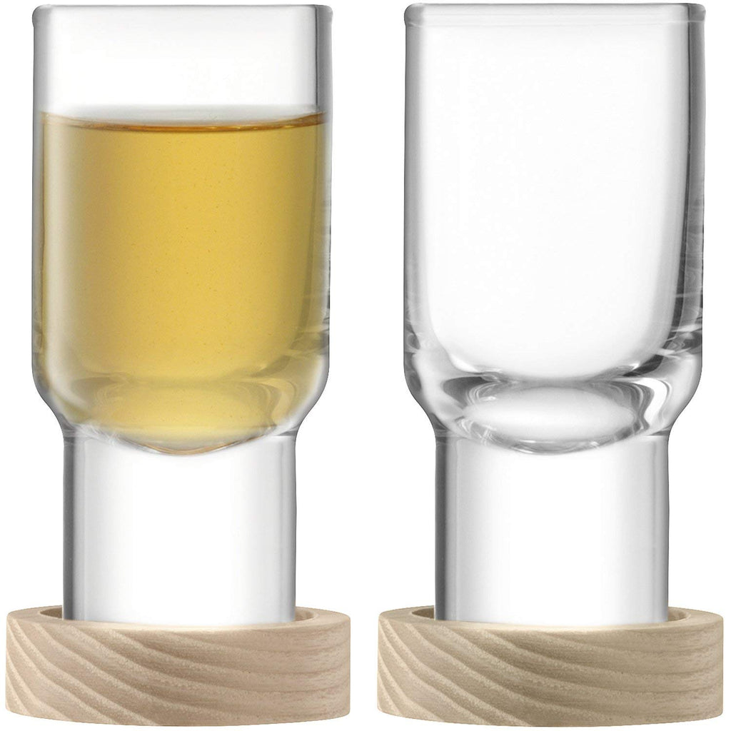 LSA Utility Vodka Glass with Ash Coaster 0.06L (Pair)