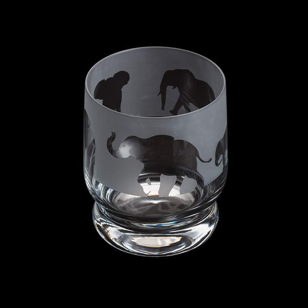 Dartington Crystal Aspect Elephant Tumbler 10cm /0.35L